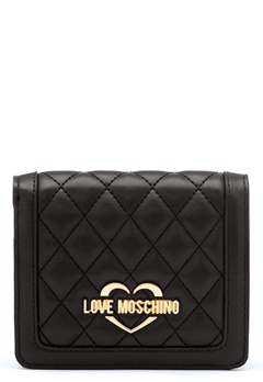 Love Moschino Quilted Wallet Black/Gold Bubbleroom.dk