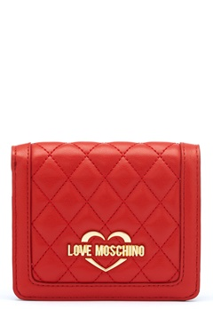 Love Moschino Quilted Wallet Red Bubbleroom.dk