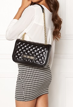 Love Moschino Shiny Quilted Bag Black Bubbleroom.dk