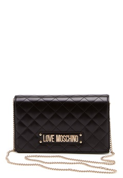 Love Moschino Small Quilted Chain Bag Black Bubbleroom.dk