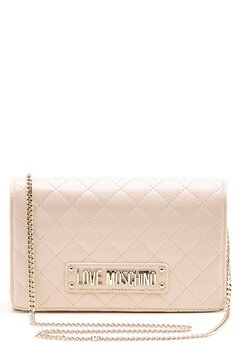Love Moschino Small Quilted Chain Bag Ivory Bubbleroom.dk