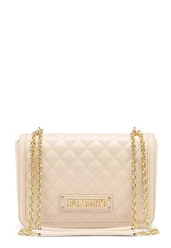 Love Moschino Small Quilted Handbag Ivory Bubbleroom.dk