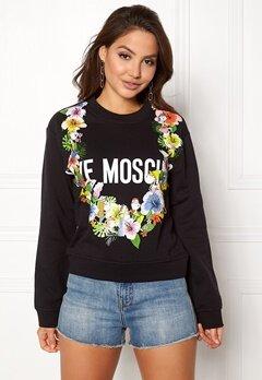 Love Moschino Sweater Love Flower C74 Black Bubbleroom.dk