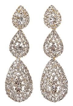 Love Rocks Byzanine Pave Earring Gold Bubbleroom.dk