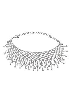 Love Rocks Choker Necklace Silver Bubbleroom.dk