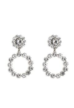 Love Rocks Crystal Ring Drop Earring Silver Bubbleroom.dk