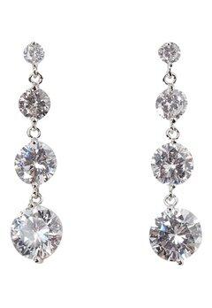 Love Rocks CZ Drop Earrings Silver Bubbleroom.dk