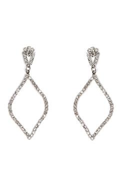 Love Rocks Persian Shape Earring Silver Bubbleroom.dk