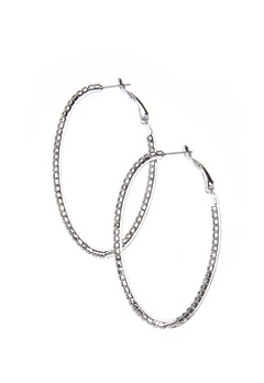 Love Rocks Single Oval Crystal Silver Bubbleroom.dk
