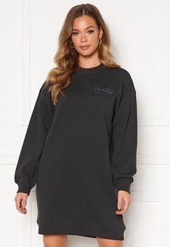 Dr. Denim Lowe Sweatshirt Dress B87 Graphite NV Shad Bubbleroom.dk