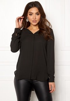 VILA Lucy L/S Shirt Black Bubbleroom.dk