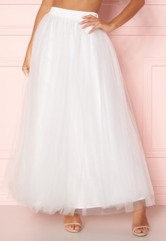 Y.A.S Lucy Maxi Skirt Star White Bubbleroom.dk
