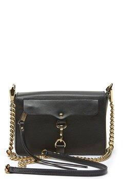 Rebecca Minkoff Mab Flap Crossbody Bag 001 Black/Light Gold Bubbleroom.dk