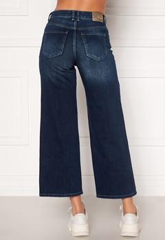 ONLY Madison HI Life Wide Crop Jeans Dark Denim Blue Bubbleroom.dk