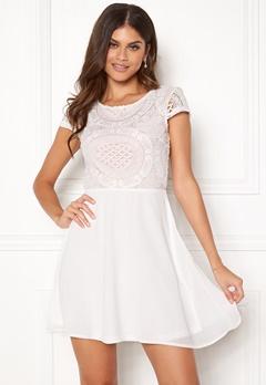 Make Way Aliza dress White / Pink Bubbleroom.dk