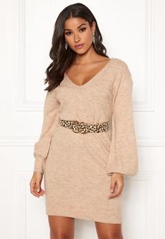 Make Way Alma knitted dress Beige Bubbleroom.dk