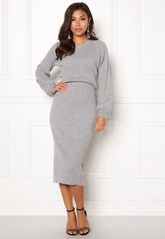 Make Way Amira knitted dress Grey melange Bubbleroom.dk