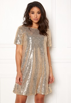 Make Way Blair sequins dress Gold Bubbleroom.dk