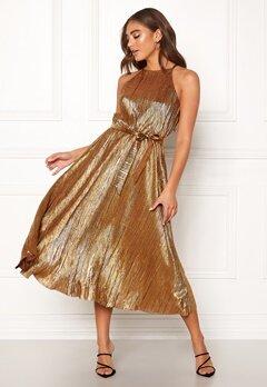 Make Way Calista pleated dress Bronze Bubbleroom.dk