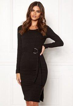 Make Way Camille belted dress Black Bubbleroom.dk
