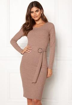 Make Way Camille belted dress Brown Bubbleroom.dk