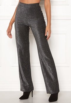 Make Way Dila sparkling trousers Black Bubbleroom.dk