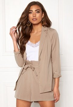 Make Way Disa soft blazer Beige / Striped Bubbleroom.dk