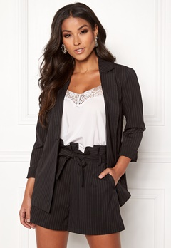 Make Way Disa soft blazer Black / White / Striped Bubbleroom.dk