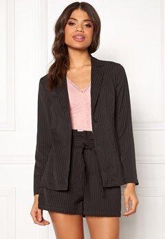 Make Way Disa soft blazer Black / White / Striped Bubbleroom.dk