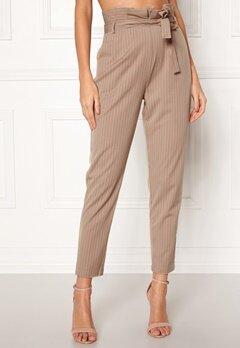 Make Way Disa trousers Beige / White / Striped Bubbleroom.dk