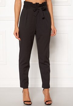 Make Way Disa trousers Black / White / Striped Bubbleroom.dk