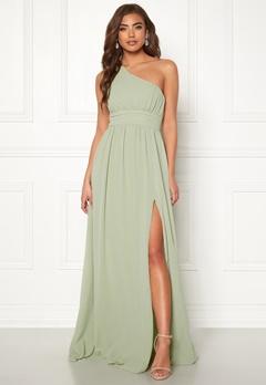 Make Way Ellamae one shoulder gown Dusty green Bubbleroom.dk