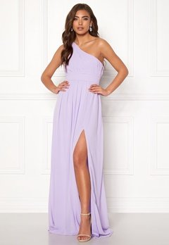 Make Way Ellamae one shoulder gown Lavender Bubbleroom.dk