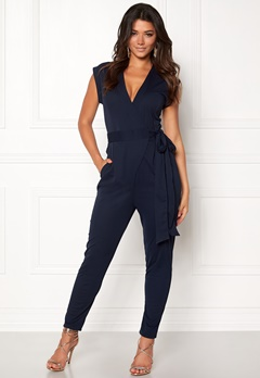 Make Way Elle Jumpsuit Midnight blue Bubbleroom.dk