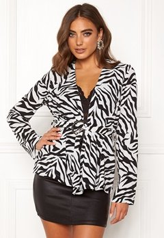 Make Way Elly soft blazer Zebra Bubbleroom.dk