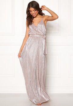 Make Way Elsa pleated lurex dress Pink / Silver Bubbleroom.dk