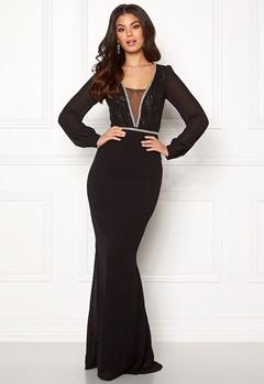 Make Way Emeline gown Black Bubbleroom.dk