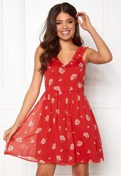 Make Way Faith dress Red / Floral Bubbleroom.dk