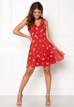 Make Way Faith dress Red / Floral Bubbleroom.dk