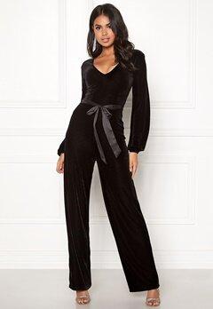 Make Way Farah velvet jumpsuit Black Bubbleroom.dk