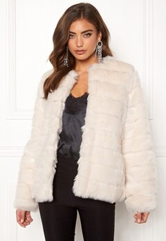 Make Way Freia faux fur jacket Cream Bubbleroom.dk