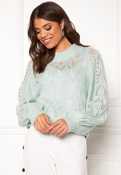 Make Way Jade knitted sweater Light mint Bubbleroom.dk