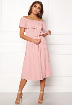 af167cea Make Way Jaqline offshoulder dress Light pink Bubbleroom.dk