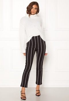 Make Way Joline trousers Black / Striped Bubbleroom.dk