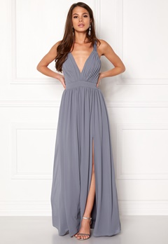 Make Way Jonna Maxi Dress Dusty blue Bubbleroom.dk