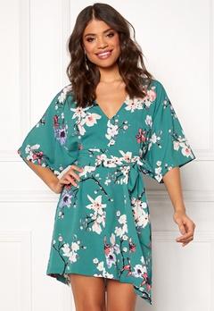 Make Way Karmen kimono dress Green / Floral Bubbleroom.dk