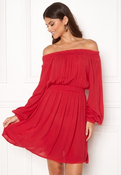 Make Way Krista offshoulder dress Red Bubbleroom.dk