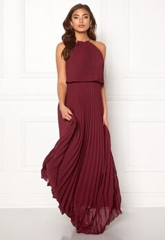 Make Way Leilani maxi dress Wine-red Bubbleroom.dk
