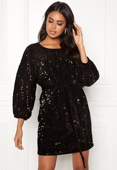 Make Way Lettie sequin dress Black Bubbleroom.dk
