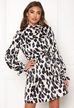 Make Way Linsley dress Black / Leopard Bubbleroom.dk